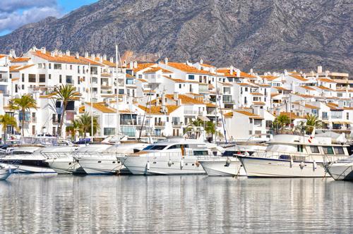 Yachten im Hafen von Marbella
