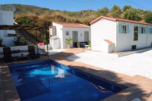 Stilvolle Villa mit Pool in Competa, Andalusien.