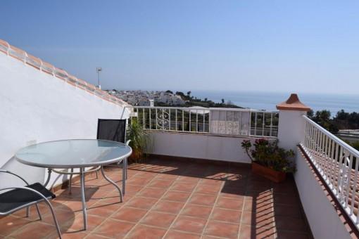Schöne Villa mit Jacuzzi und traumhaftem Meerblick in Nerja / Maro (Málaga)
