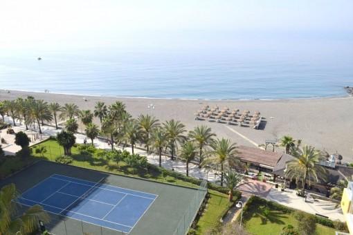 Helle Wohnung direkt am Strand von Algarrobo