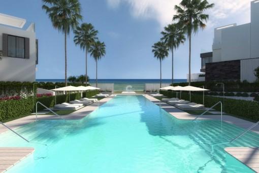 Moderne, Luxus Häuser - Erste Strandlinie -