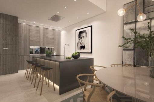 Moderne Luxushäuser in erster Meereslinie in Estepona,Malaga