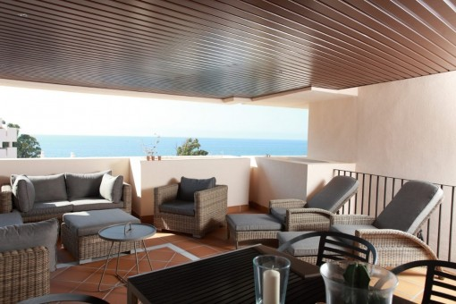 Erste Linie Strand Wohnungen mit herrlichem Meerblick, Estepona