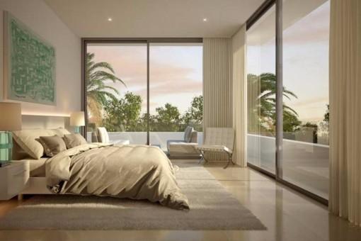 Villa kaufen in marbella neubau mit pool und meerblick for Moderne villen von innen