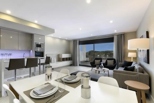 kaufen neue wohnungen penth user modern bei estepona malaga. Black Bedroom Furniture Sets. Home Design Ideas