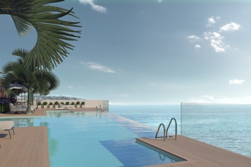 Neue, luxuriöse erste Strandlinie Wohnungen in Estepona