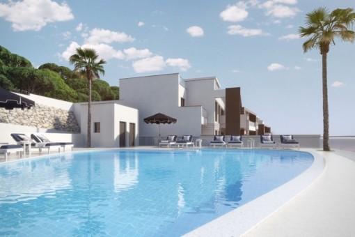 Luxus-Wohnungen mit Panoramaussicht auf Golfplatz, Meer und Berge, Benahavís