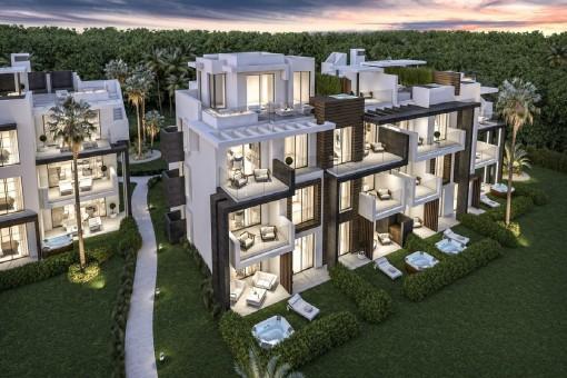 Jede Wohnung hat eine Terrasse