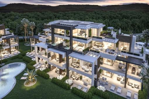 Exklusive Apartments mit Blick auf das Mittelmeer