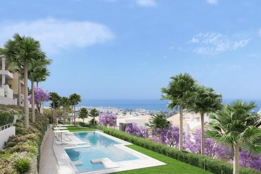 Exklusive und moderne Wohnung mit Meerblick in Malaga