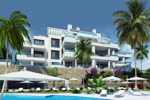 Extravagante Wohnung mit Meerblick in Mijas