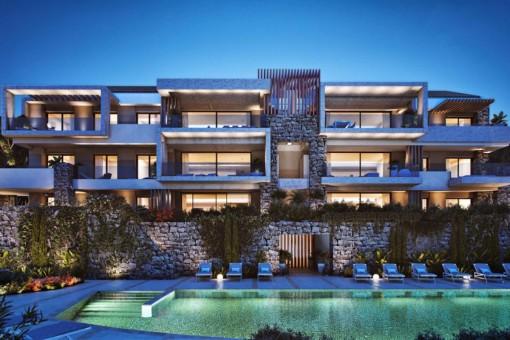 Exklusive Neubau-Wohnung mit traumhaftem Meerblick in Benahavís