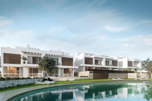 Fantastische Häuser in Artola, Cabopino mit Panoramablick