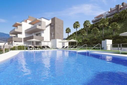 Neuer Wohnkomplex mit fantastischer Aussicht, liegend zwischen Marbella und Fuengirola