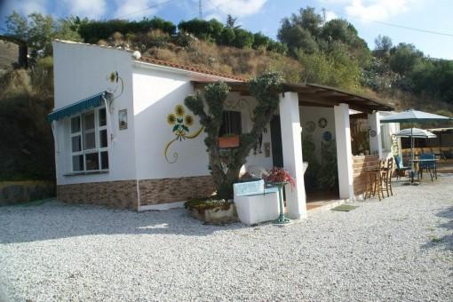 Rustikale Finca mit Meerblick, Pool und Pferdestall in Torrox, Málaga