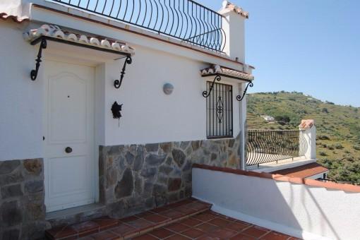 Schöner Eingang der Villa