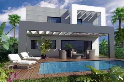 Neue Villa in Strandnähe