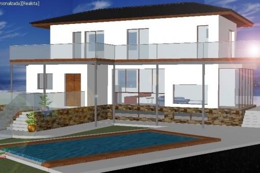Großes Grundstück in Mijas für den Bau einer neuen Villa