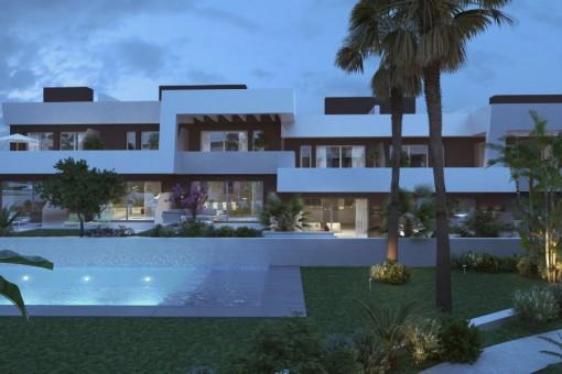 Neue und moderne Häuser in fußläufiger Entfernung zu La Cala de Mijas