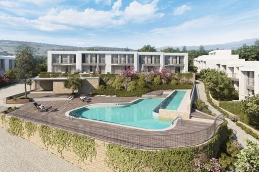 Neue und moderne Anlage von Reihenhäusern im Golf Resort von La Cala de Mijas, Malaga