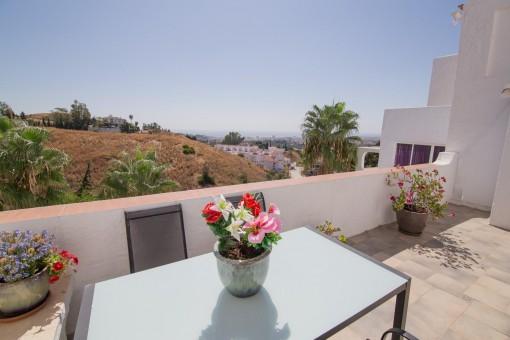 Schöne Apartments mit Meerblick in Mijas