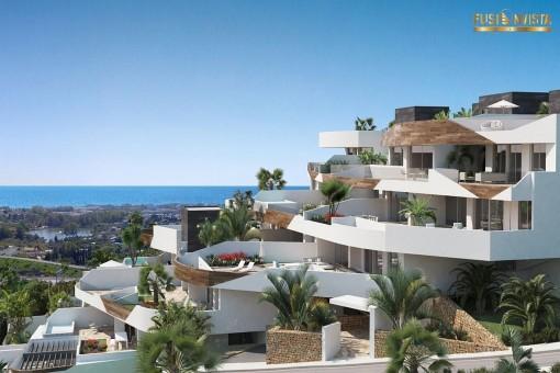 Neue Wohnanlage mit traumhaften Wohnungen, Estepona, Malaga - kaufen