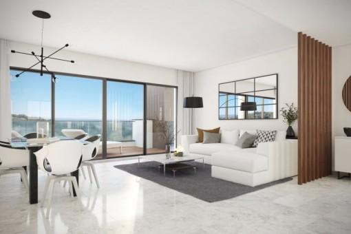 kaufen neue wohnungen meerblick benahavis. Black Bedroom Furniture Sets. Home Design Ideas