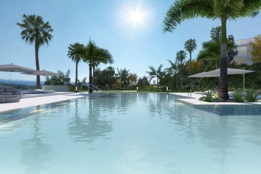 Traumhafte Luxuswohnung mit Meerblick