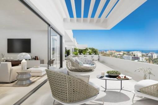 Fantastische Wohnung mit spektakulärem Meerblick in Estepona