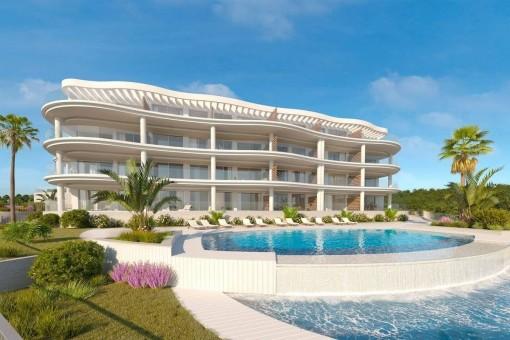 Traumhaft schöne Wohnungen mit Meerblick in Mijas