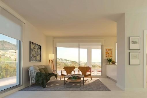 Neue Wohnungen Mit Meerblick In Mijas Kaufen