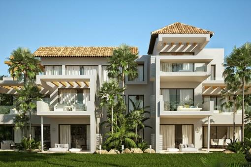 Exklusive Penthäuser, Apartments und Penthäuser mit Meerblick in Benahavis