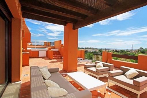 Luxus duplex Penthäuser mit Meerblick in Puerto Banus