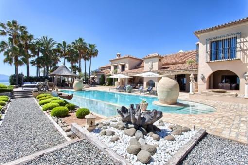 Idyllischer Anblick der Villa