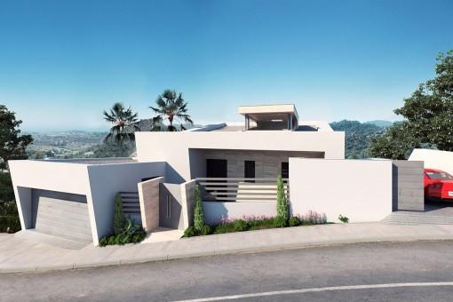 Geräumige, neue moderne zeitgenössische Villa in Benahavís