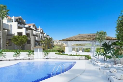Stylishe 2-Zimmer-Wohnung in La Cala Hills, neben La Cala de Mijas gelegen