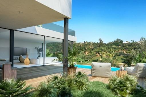 Moderne Villen in Estepona mit Meerblick
