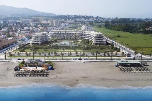 Moderne Apartments in erster Meereslinie in Torremolinos an der Costa Del Sol