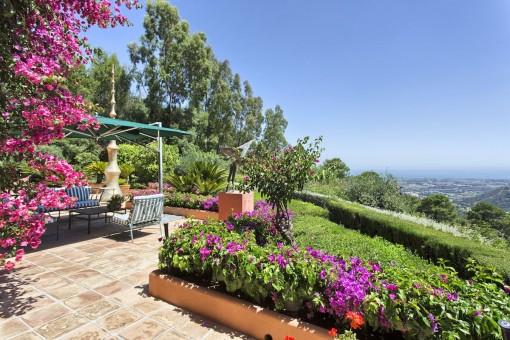 Wunderschöner Garten mit Lounge