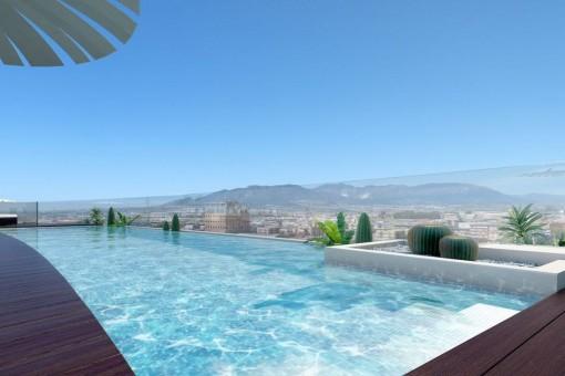 Neuer und moderner Wohnkomplex in der Innenstadt von Málaga