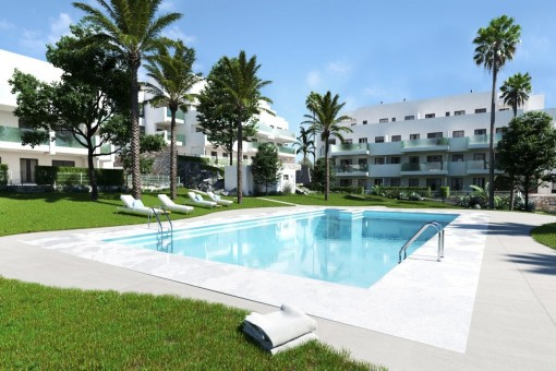 Moderne Apartment-Wohnanlage in Mijas, Costa del Sol
