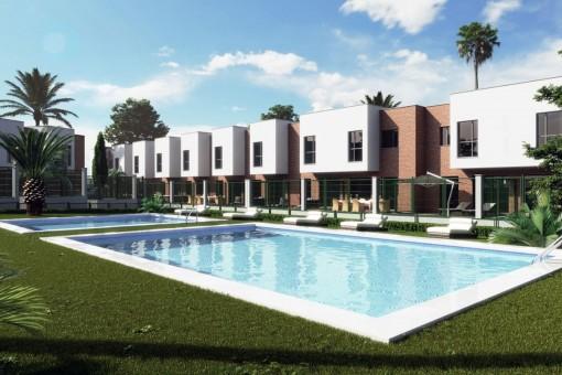Fantastische neue Stadthäuser im Stadtzentrum von Malaga, Costa Del Sol