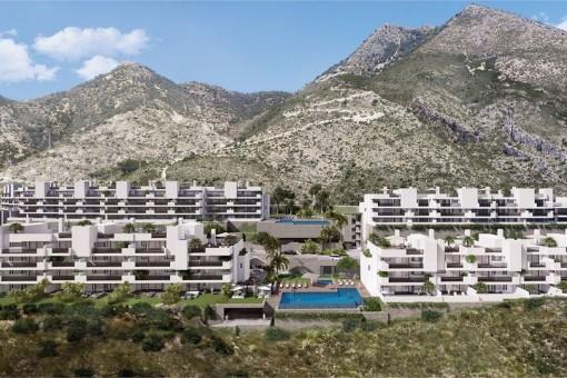 Neuer Apartmentkomplex mit Meerblick in Benalmadena, Costa Del Sol