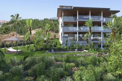 Brandneue Luxuswohnungen mit Meerblick in Mijas, Costa Del Sol