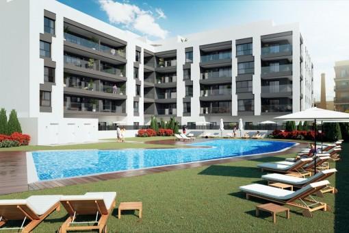 Moderne und sehr geräumige Apartments mit Meerblick in Torre del Mar, Málaga, Costa del Sol