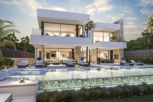 Prächtige neue zeitlose Designervilla in Guadalmina Baja