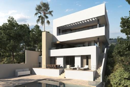 Moderne, zeitlose Neubauvilla in Los Arqueros, Benahavis