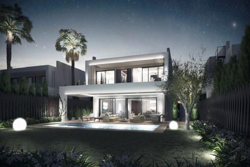 Die Villa bietet eine zeitgenössische Architektur