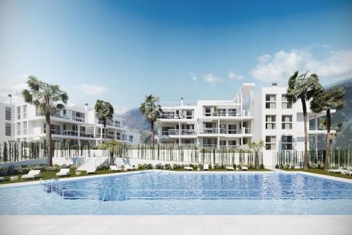 Wohnen inmitten der Natur – Wohnungen und Penthäuser in nur wenigen Minuten von Marbella in Benahavis entfernt