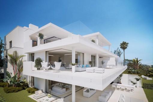 Beeindruckende Residenzen in erster Linie des Mittelmeers in Estepona